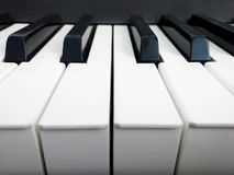 De piano sluit dicht omhoog stock fotografie