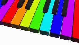 De piano van de regenboog Stock Fotografie