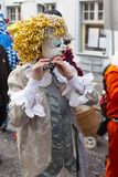 De piccolofluitspeler van Bazel Carnaval 2019 stock fotografie