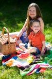 De picknick van de familie Stock Fotografie