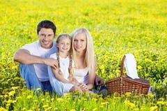 De Picknick van de familie Royalty-vrije Stock Afbeeldingen