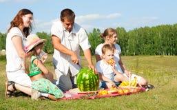 De picknick van de familie Royalty-vrije Stock Foto's