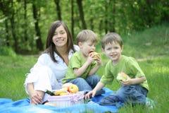 De picknick van de familie Royalty-vrije Stock Foto