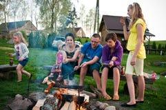 De picknick van het land stock foto