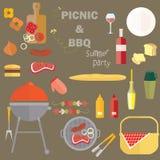 De Picknickpartij van de de zomerbarbecue Stock Fotografie