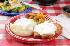 De picknickvoedsel van de zomer Stock Foto's