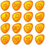 De pictogrammen/de knopen van de computer Stock Fotografie