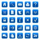 De pictogrammen/de knopen van het Web Stock Afbeelding