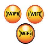 De pictogrammen of de knopen van Wifi Stock Afbeelding