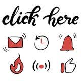 De pictogrammen die van het Youtubekanaal reeks van letters voorzien vector illustratie