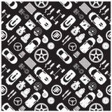 De pictogrammen en de Achtergrond van het autodeel Royalty-vrije Stock Afbeelding