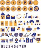 De pictogrammen en de knopen van het Web Royalty-vrije Stock Fotografie