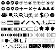De pictogrammen en de knopen van het Web Stock Foto's