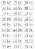 De pictogrammen en de symbolen van het Web Stock Afbeeldingen