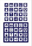 De pictogrammen juridische diensten Royalty-vrije Stock Afbeeldingen
