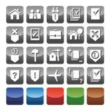 De pictogrammen juridische diensten Stock Afbeeldingen