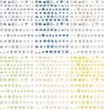 De pictogrammen pakken 6 kleuren in Stock Foto's