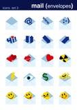 De pictogrammen plaatsen 2 Royalty-vrije Stock Afbeeldingen