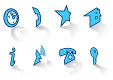 De pictogrammen plaatsen 41 Stock Afbeeldingen