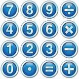 De pictogrammen van aantallen Stock Afbeeldingen