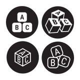 De pictogrammen van Abckubussen vector illustratie