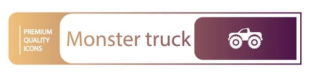 de pictogrammen van de achtergrondmonstervrachtwagen stock illustratie
