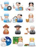 De pictogrammen van beroepen Royalty-vrije Stock Afbeeldingen