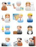 De pictogrammen van beroepen Royalty-vrije Stock Fotografie