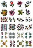 De pictogrammen van bloemen Royalty-vrije Illustratie