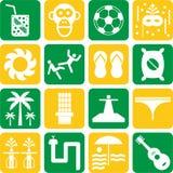 De pictogrammen van Brazilië Stock Afbeelding
