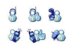 De pictogrammen van Comunication Royalty-vrije Stock Foto's
