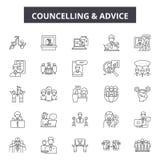 De pictogrammen van de Councellingslijn, tekens, vectorreeks, het concept van de overzichtsillustratie royalty-vrije illustratie