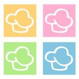 De pictogrammen van Cupcakes Royalty-vrije Stock Foto
