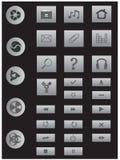 De pictogrammen van de appel royalty-vrije illustratie