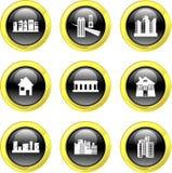De pictogrammen van de architectuur stock illustratie