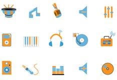 De pictogrammen van de audio en van het Web Royalty-vrije Stock Fotografie