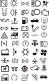 De pictogrammen van de auto Stock Foto's