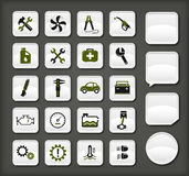 De pictogrammen van de autodienst Royalty-vrije Stock Afbeelding