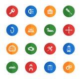 De pictogrammen van de autodienst eenvoudig Stock Afbeelding