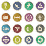 De pictogrammen van de autodienst eenvoudig Stock Foto's