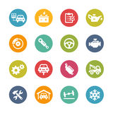 De Pictogrammen van de autodienst -- Verse Kleurenreeks Royalty-vrije Stock Foto