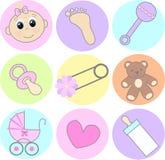 De pictogrammen van de baby Stock Afbeelding