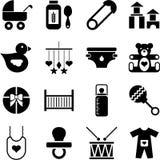 De pictogrammen van de baby Stock Fotografie