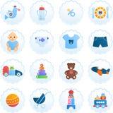 De Pictogrammen van de babyjongen Stock Foto's