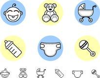de pictogrammen van de babyjongen Stock Fotografie