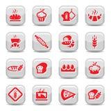 De pictogrammen van de bakkerij Royalty-vrije Stock Foto's