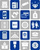 De pictogrammen van de bank Royalty-vrije Stock Foto
