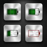 De pictogrammen van de batterij Stock Fotografie