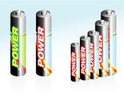 De Pictogrammen van de batterij Stock Foto
