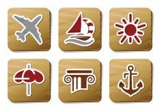 De pictogrammen van de bediening op de kamer | De reeks van het karton Royalty-vrije Stock Foto's